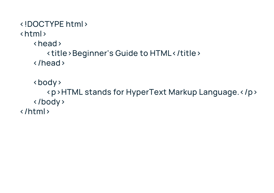 Image displaying html for paragraphs